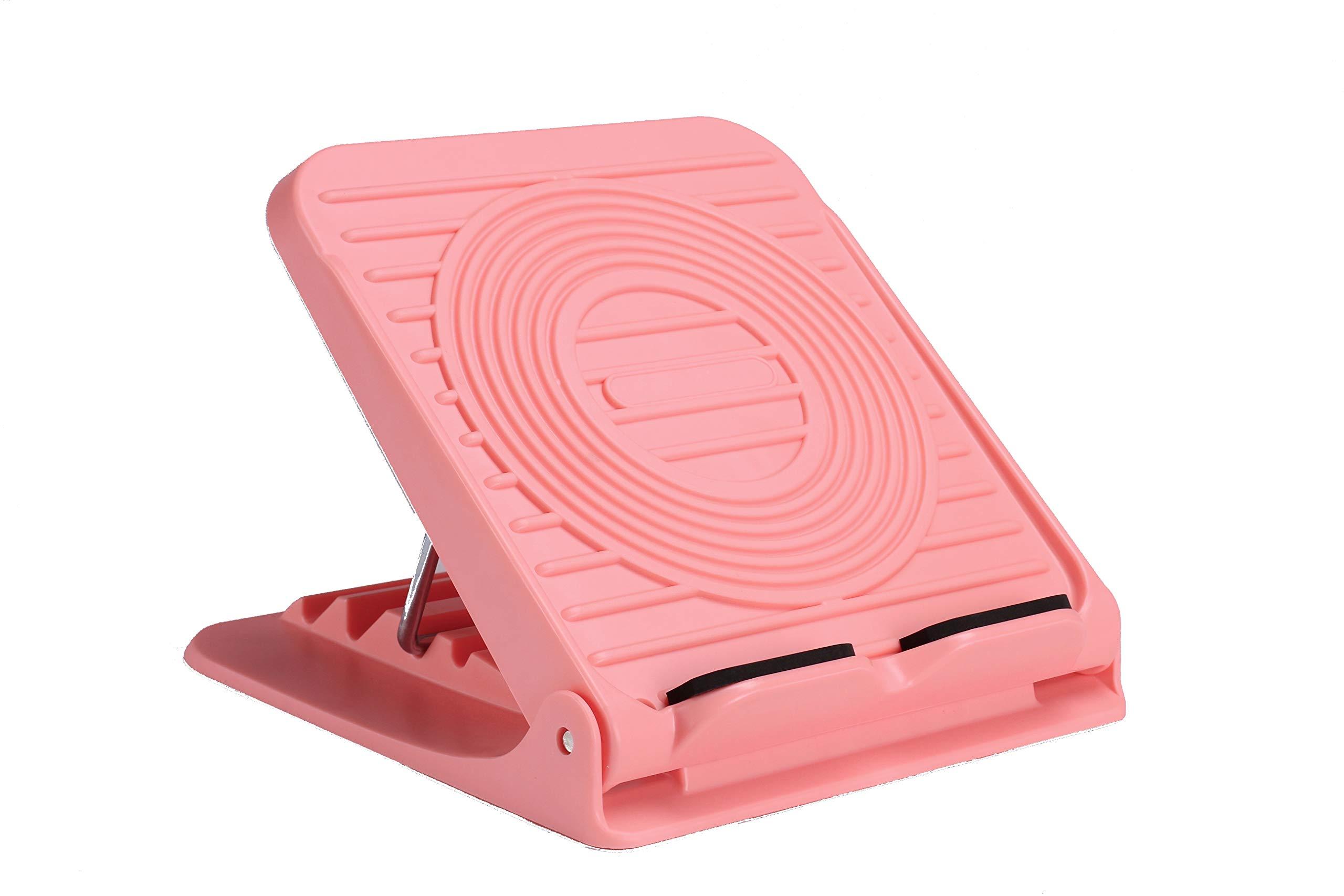 LOVHO Adjustable Slant Board Sports Equipment Leg Exercise Ankle Calf Stretcher Foot Balancing Board (Pink)