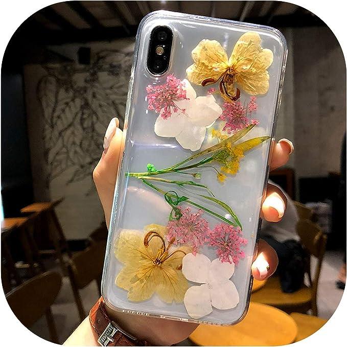 Véritable Fleur séchée Coque pour iPhone X iPhone X Transparent ...