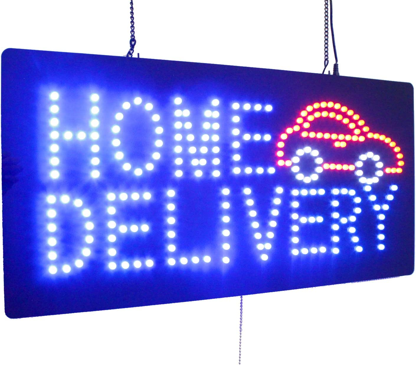 Home Delivery Sign, TOPKING Signage, LED Neon Open, Store, Window, Shop, Business, Display, Grand Opening Gift