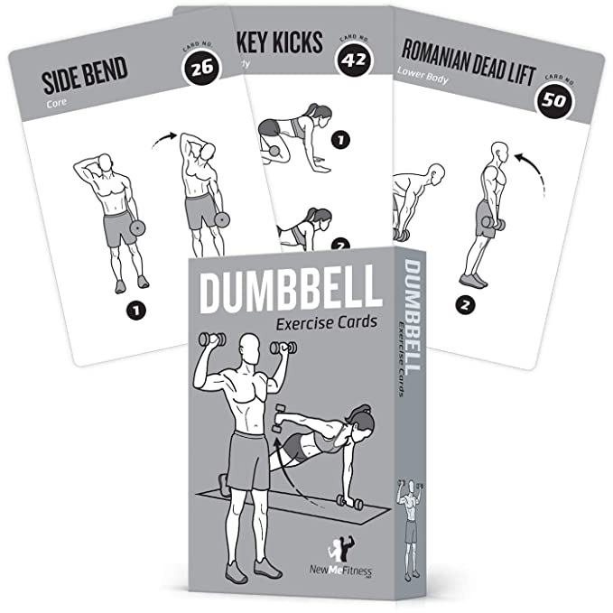 Review EXERCISE CARDS DUMBBELL Home