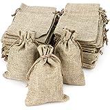 RUBY - 50 Bolsas de Lino 12cmx17cm, bolsitas de Tela, Saco ...