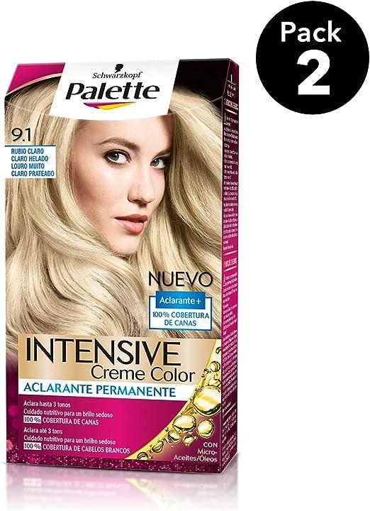 Palette Intense - Tono 9.1 Rubio Claro Claro Helado - 2 uds ...