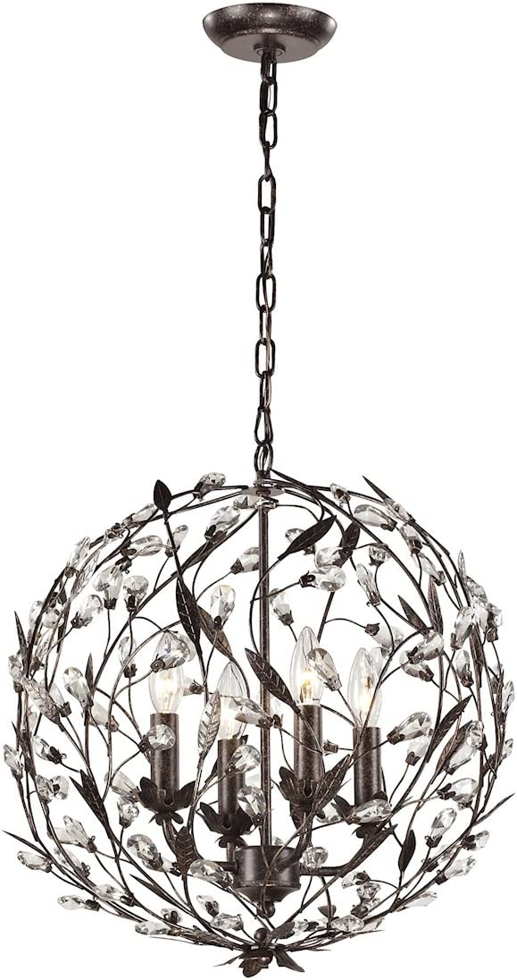 ELK Lighting 18134-4 18134 4 Circeo Collection 4 Light Pendant, 19 x 19 x 19 , Deep Rust