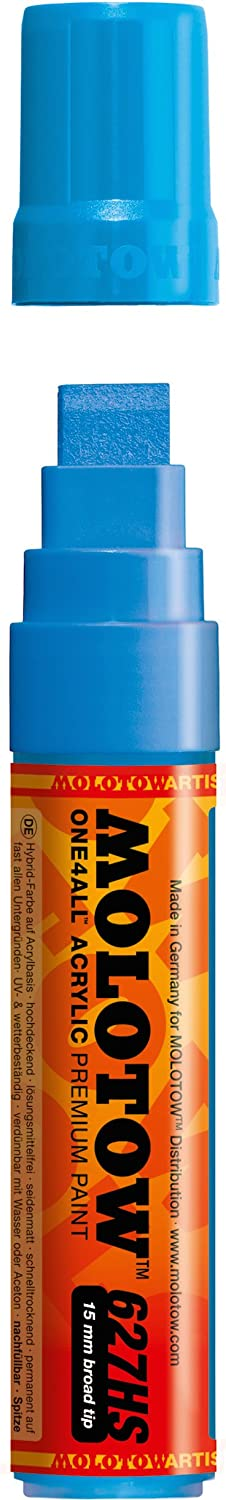 127.205 sto/ßblau 1.5mm Shock Blue Middle 2 mm 1 St/ück Paint Marker Molotow ONE4ALL Acryl-Marker