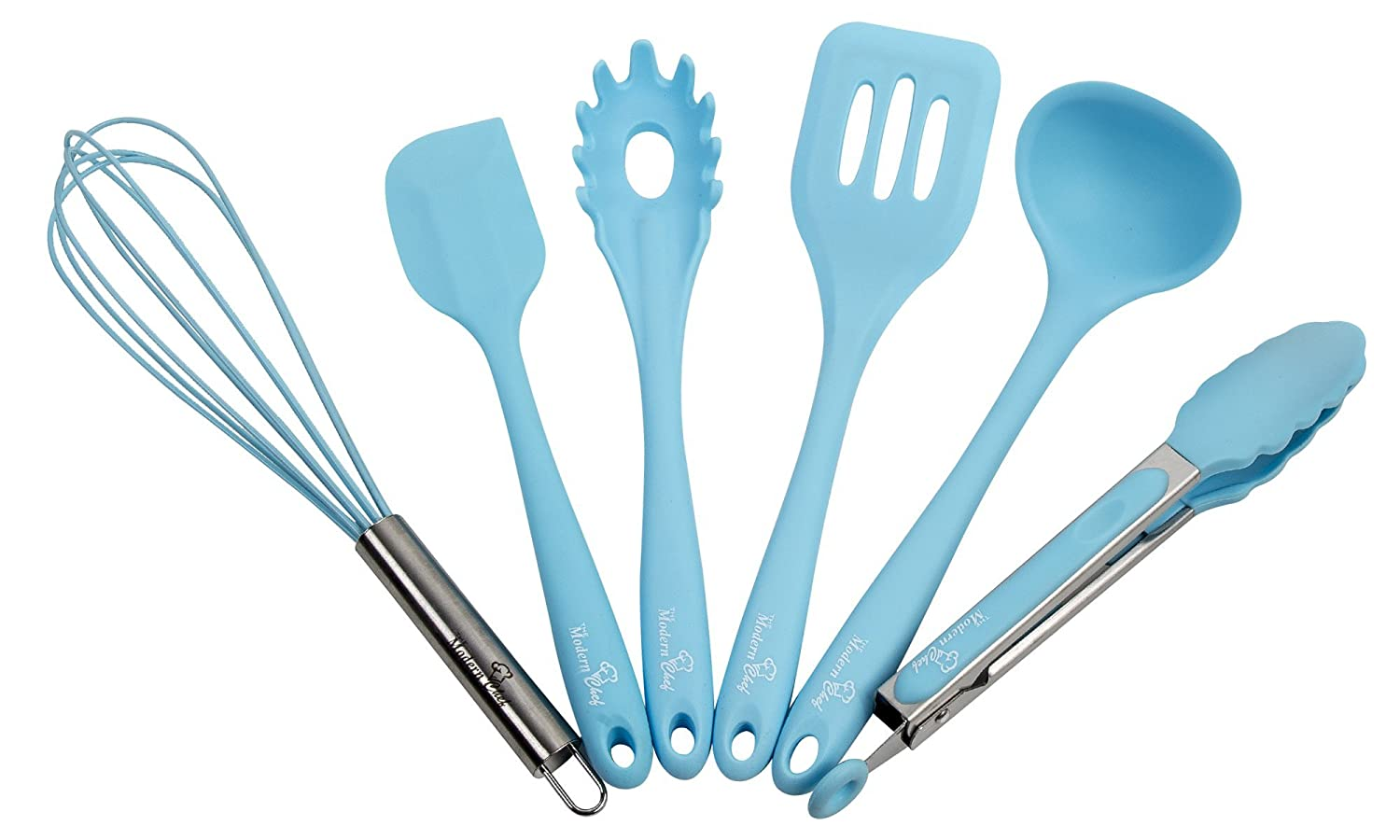 Amazon.com: Premium Kitchen Utensil Set. Quality Silicone Cooking ...