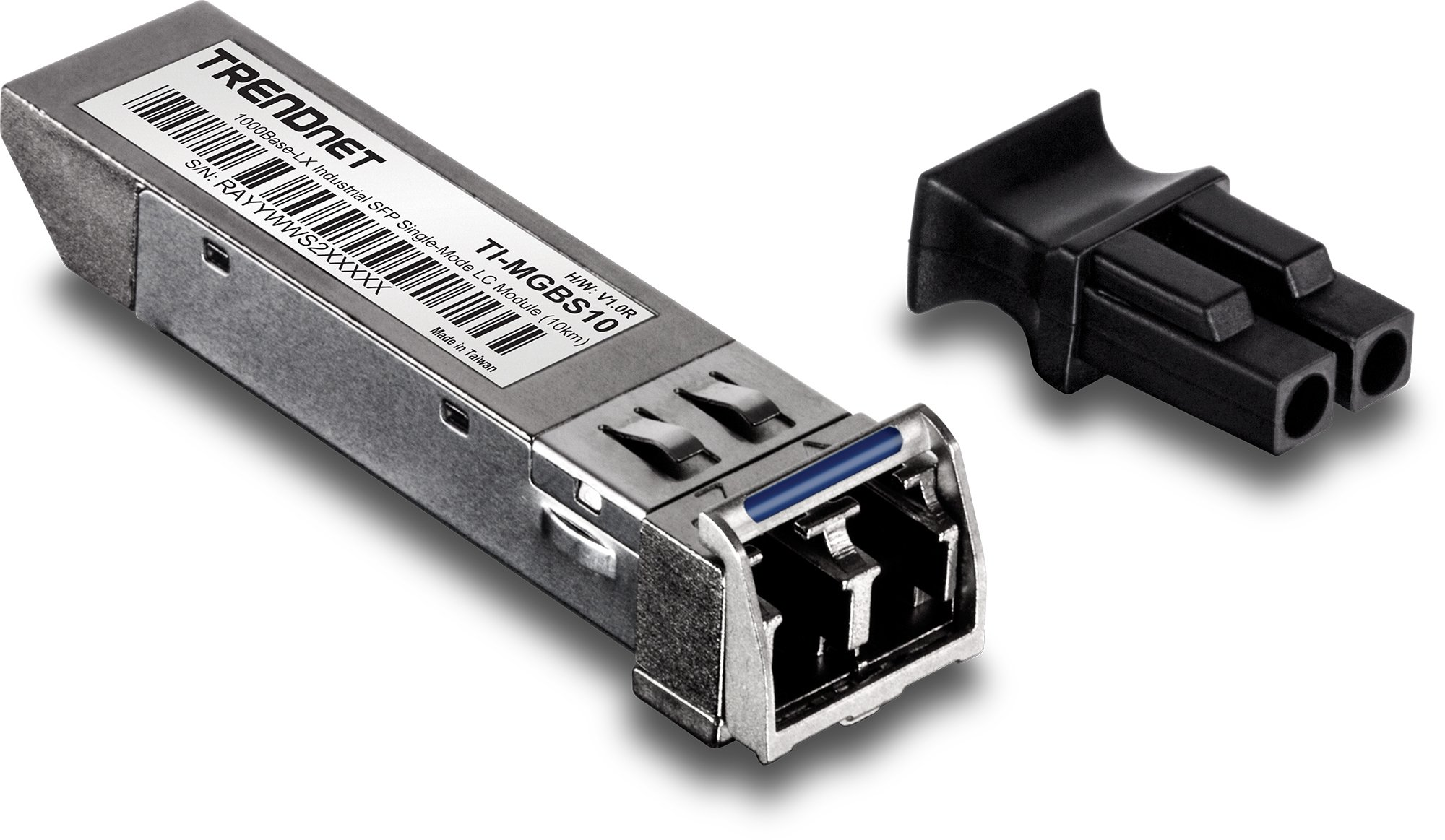 TRENDnet 1000Base-LX Industrial SFP Single-Mode LC Module (10km-6.2 Miles), IEEE 802.3z, ANSI, MSA Compliant, Data Rates up to 1.25 Gbps, Hot-Pluggable, LC-Type Duplex, TI-MGBS10
