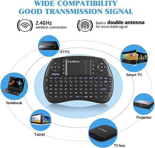 Leelbox Mini Teclado táctil inalámbrico de 2,4 GHz para Raspberry Pi, Xbox 360, PS3, PC, Pad, Android TV Box, HTPC: Amazon.es: Electrónica