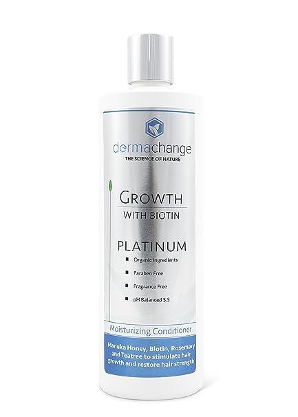 dermachange Platinum crecimiento del cabello acondicionador – con vitaminas – para hacer crecer pelo rápido –
