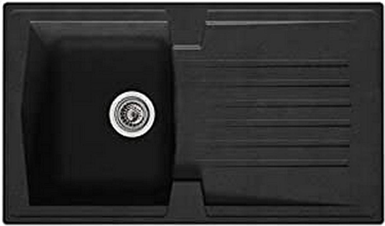 respekta Alineo100 Kitchen Sink, Black , 86 cm