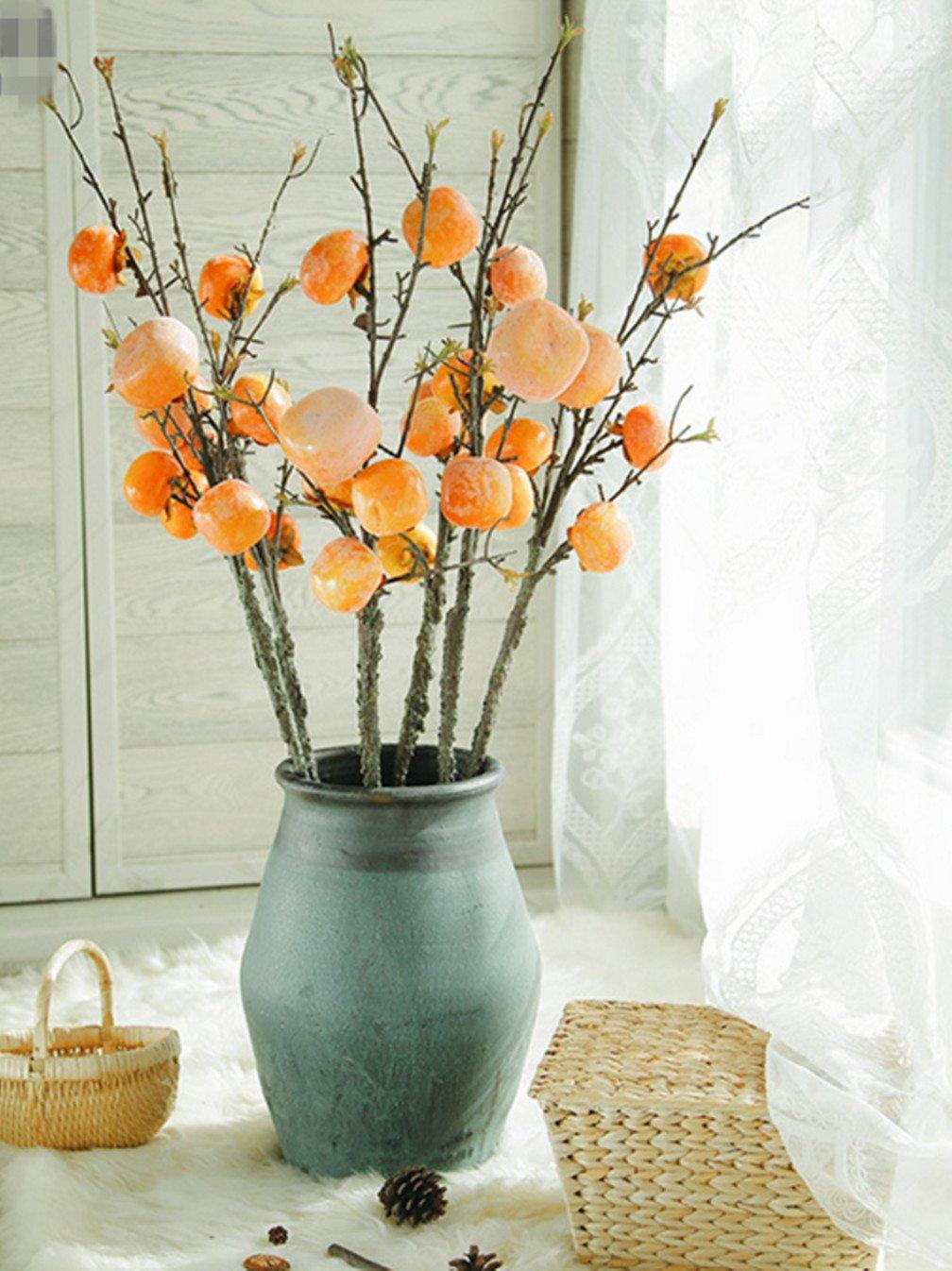 skyseen 3pcs人工花Persimmon果物Berries Bouquet Floral Gardenホーム装飾、B B07B6QNP39