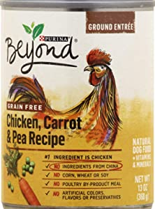 Beyond Grain Free 6 Pack Dog Food, 2-Cans Chicken & Sweet Potato, 2-Cans Chicken, Carrot & Pea, 2-Cans Chicken, Lamb & Spinach (Total 6-13 OZ CANS)