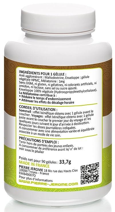 Melatonina 1 Mg - 90 Cápsulas vegetales: Amazon.es: Salud y cuidado personal
