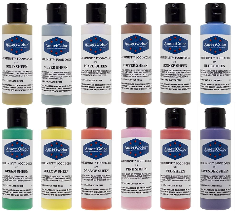 Americolor Sheen Airbrush Color Kit, Twelve 4.5-Oz Colors by AmeriColor (Image #2)