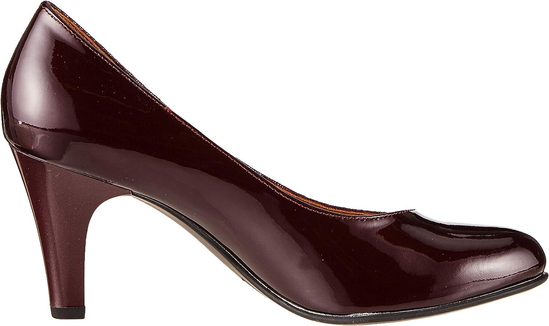 CAPRICE Britt, Scarpe con Tacco Donna Rosso Bordeaux Comb 551