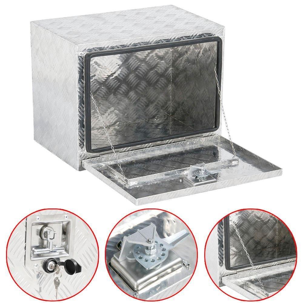 Yaheetech Heavy Duty Aluminum Truck Pickup Underbody Storage Tool Box Trailer Tongue W/Lock (Style A)