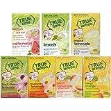 True Lime 7 flavor variety pack: WATERMELON AQUA FRESCA, LIMEADE, Original Lemonade, Peach, Black Cherry, Raspberry and Mango Orange. True Citrus Assorted Beverage Pack: (7 boxes).