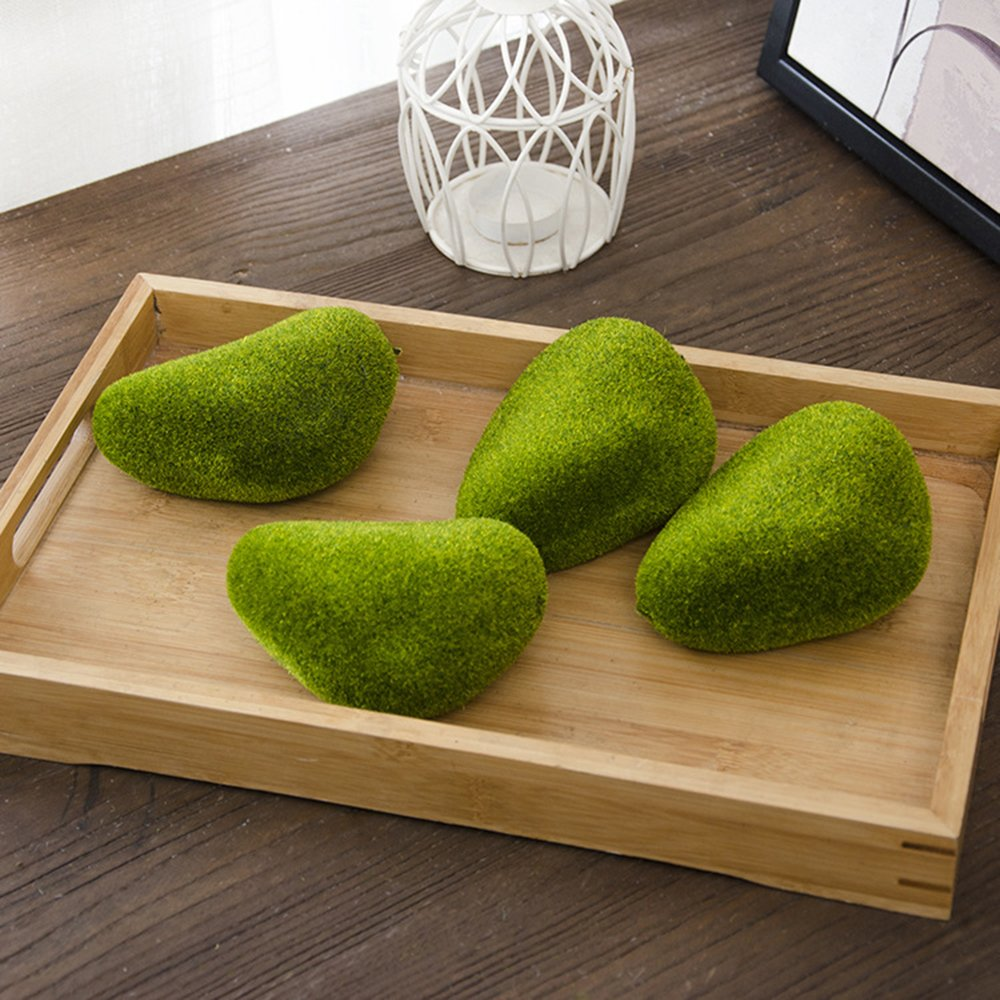 Green Artificial Flocking Moss Balls Decorative Faux Moss Stones for Floral Arrangements Fairy Gardens Vase Filler Table Decor Weddings Parties Terrariums and Crafting (30 small) Yokoke 4336861193