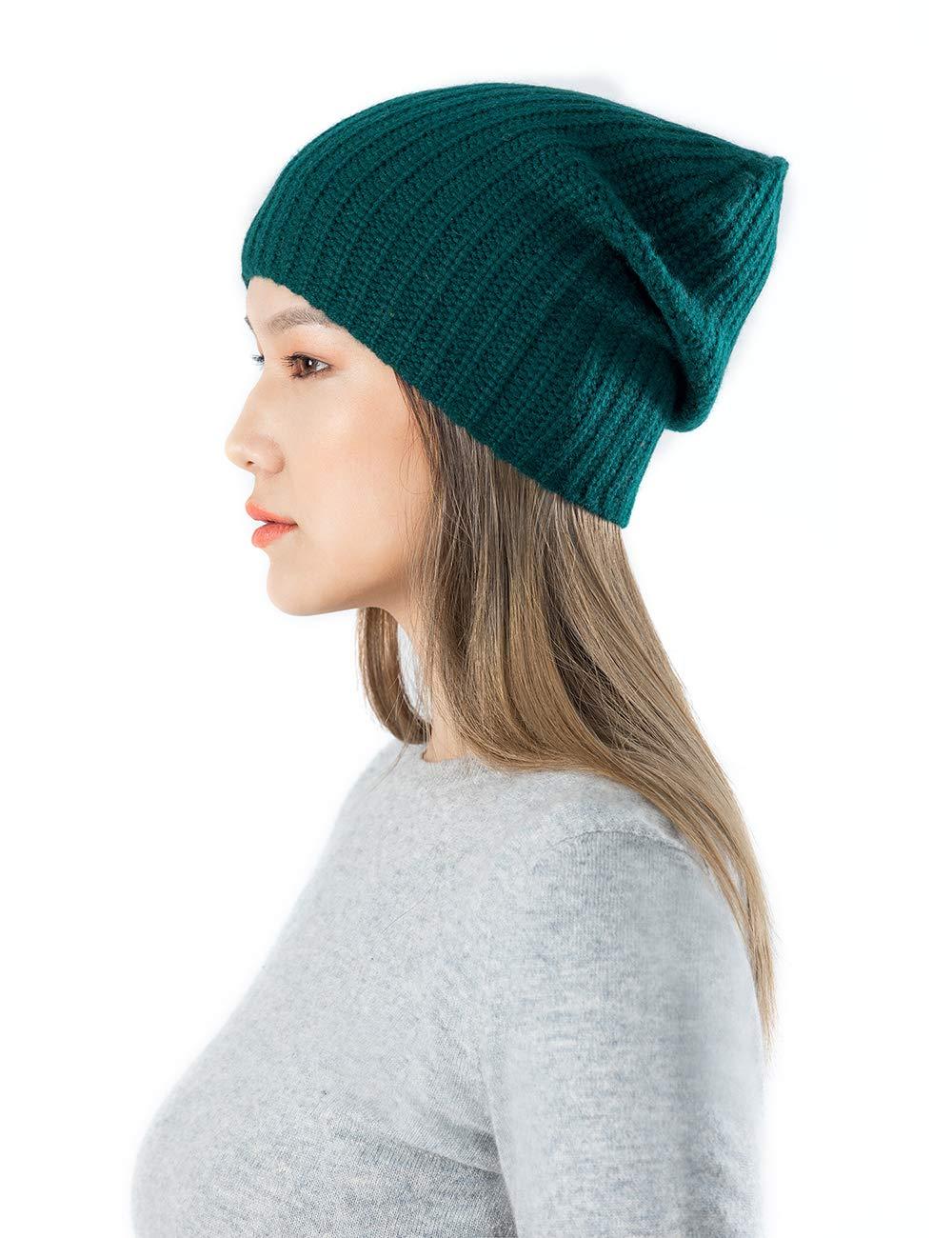 Gobi Cashmere Knit Hat (Dark Green)