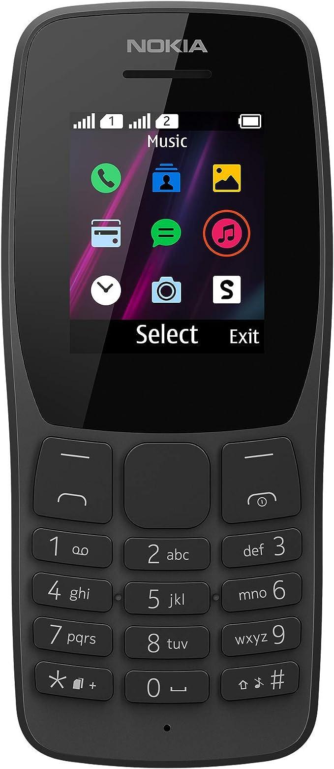 Nokia 110 Black Dual SIM: Amazon.de: Elektronik
