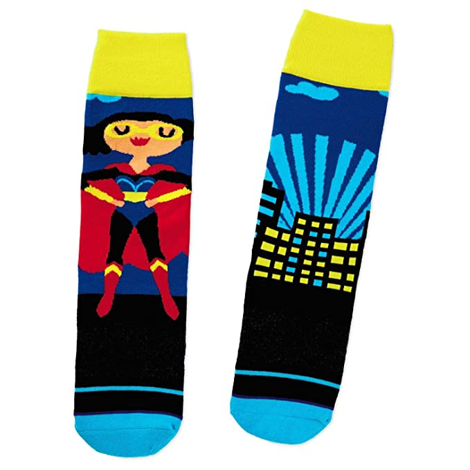 af6dbac19 Image Unavailable. Image not available for. Color: Superwoman Toe of a Kind  Socks Socks & Shoes Superheroes