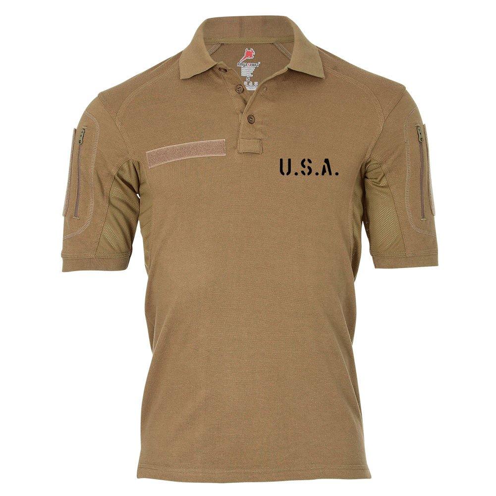 Tactical Poloshirt Alfa - USA United States of America Dienst Hemd Polo Shirt  19084