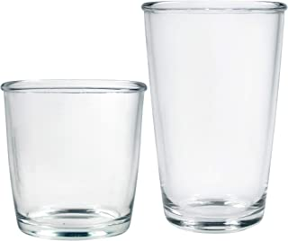 product image for Luminarc 16-Piece Mixed Cocoon Tumbler Set, 8-16 Ounce Coolers & 8-14 Double Old Fashioned Glass, Clear