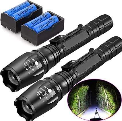 20000 Lumen Ultrafire XM-L T6 Zoomable Tactical LED Flashlight Torch Lamp US