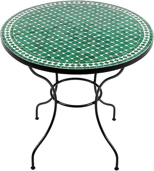 albena Marokko Galerie Marroquí mosaico mesa redonda (80 cm mesa de jardín Bistro – Mesa para azulejos de terraza: Amazon.es: Jardín