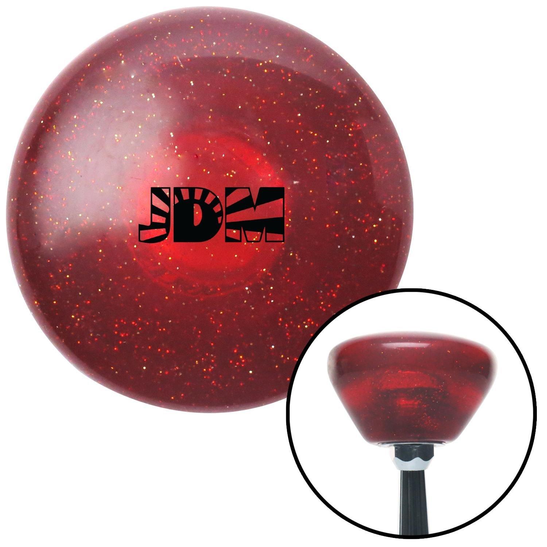 Black Rising Sun Logo Red Retro Metal Flake with M16 x 1.5 Insert American Shifter 290898 Shift Knob