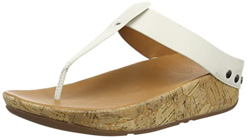 Ibiza Cork - Sandalias Mujer, Color Marrón (Dark Tan 277), Talla 41 EU FitFlop