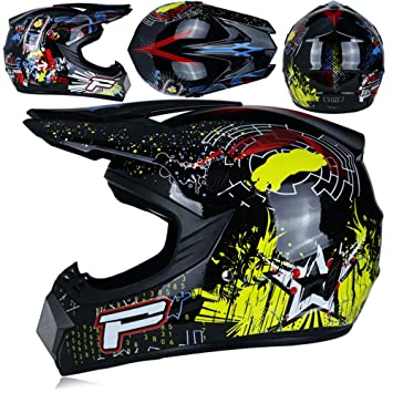 Angelxue Adulto Motocross Casco ATV Casco d. o. T estándar ...