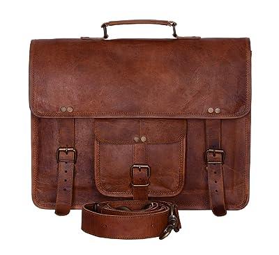 KPL Vintage 15 Inch Laptop Messenger Bag briefcase Satchel laptop bag