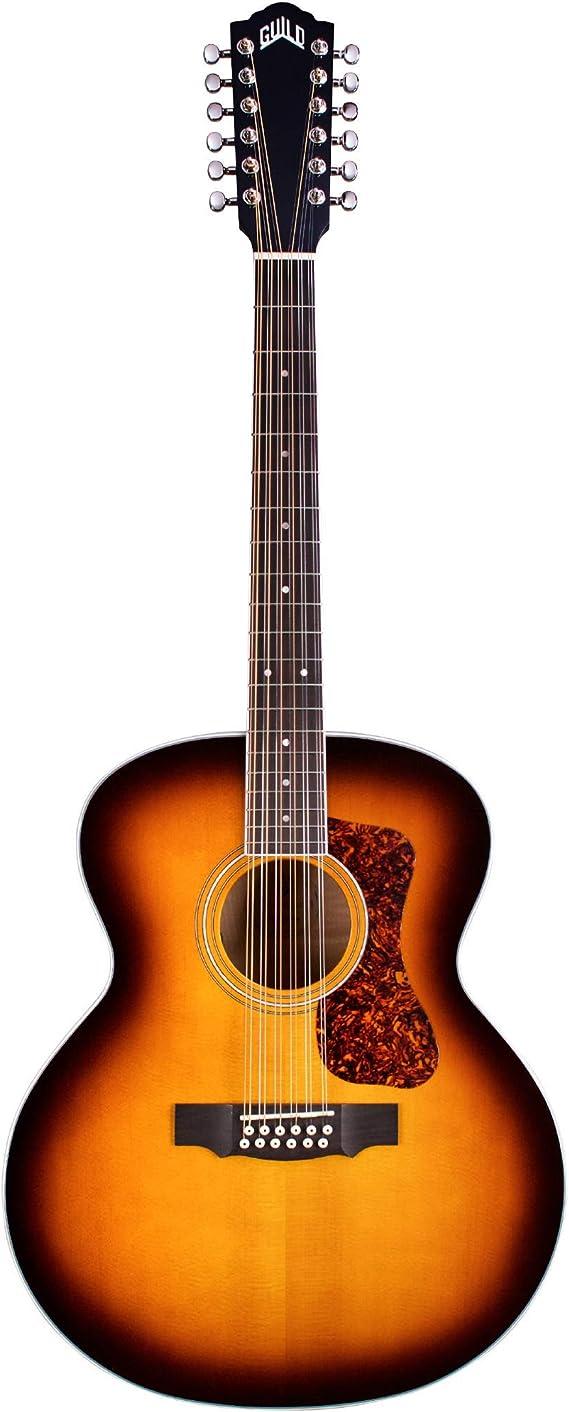 Guild F-2512E Deluxe ATB - Guitarra acústica de 12 cuerdas: Amazon ...