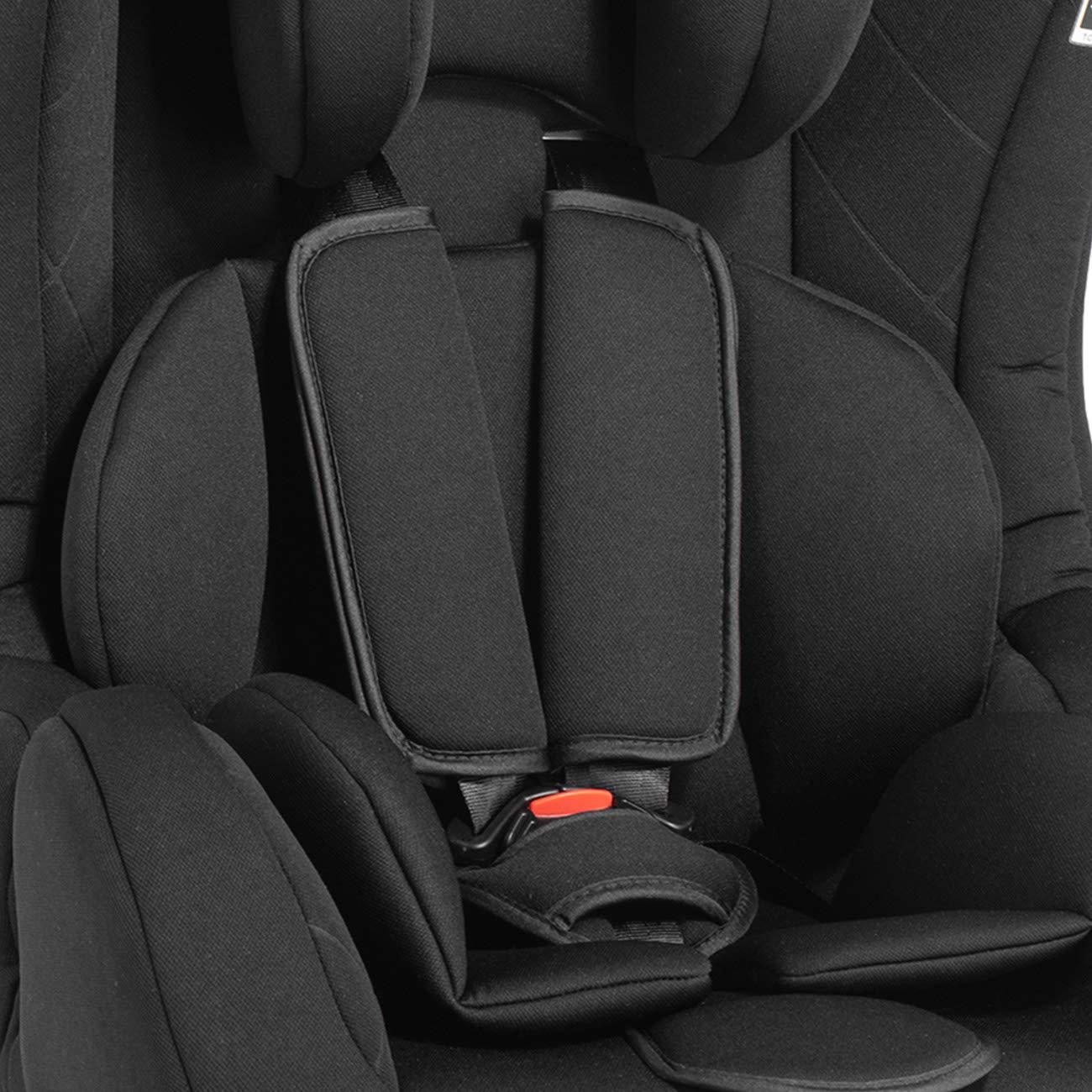 Baby Vivo Kinderautositz mit ISOFIX BEN Autokindersitz Autositz Kindersitz TOM von 9-36 kg f/ür Gruppe 1+2+3 mitwachsend ab 12 Monate bis 12 Jahre in Schwarz
