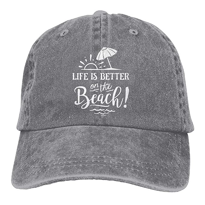 No Soy Como Tu Life is Better On The Beach-1 Vintage Jeans Baseball ...