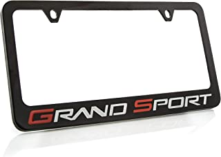 product image for Chevrolet Corvette C6 Grand Sport Metal License Plate Frame Holder (Black & Wide)