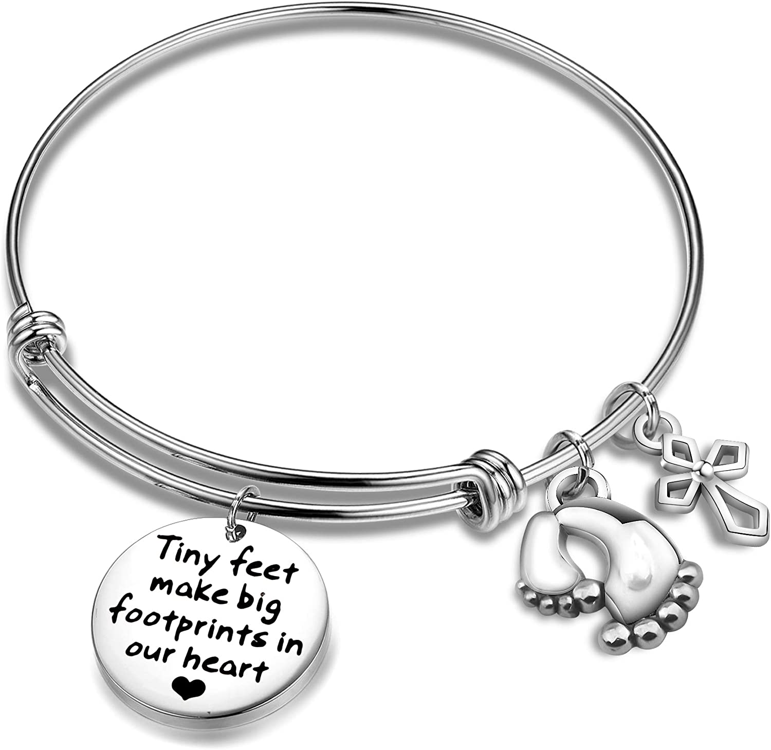 Baby feet charm Quoted gift Baby shower gift Baby feet bracelet  Baby gift Baby shower bracelet Personalised gift New mom