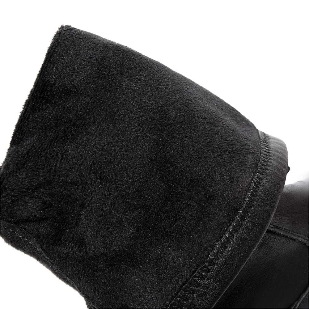 Adultsys Leder Damen Winter Über Über Über Dem Knie Plus Kaschmirstiefel Mode Schlanke Flache Damenschuhe Aus Baumwolle d65349