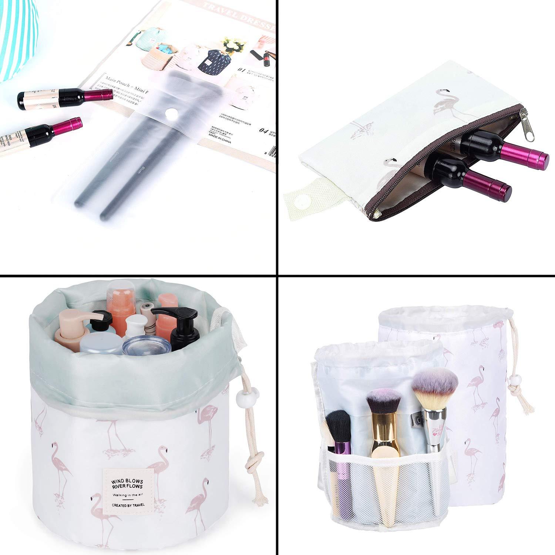 Neceser Mujer Maquillaje ANDERK 4 Piezas Neceser Viaje Mujer Bolsa Aseo Neceser Ni/ña Bolsas de Cosm/éticos