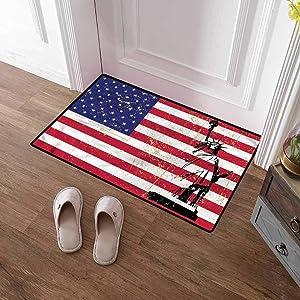 Custom&blanket Indoor Door Mat New York Entrance Door Rug Statue of Liberty USA for Bathroom Kitchen Home Decor 36x60 inches
