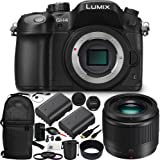 Panasonic Lumix DMC-GH4 Mirrorless Micro Four Thirds Digital Camera & LUMIX G 25mm f/1.7 Lens 12PC Accessory Kit. Includes Manufacturer Accessories + 2 Replacement BLG14 Batteries + MORE
