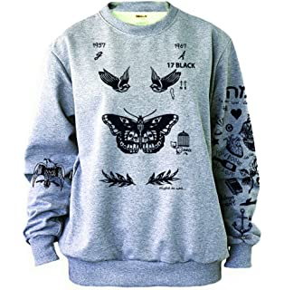 496546c29e03 Amazon.com  Harry Styles One Direction UPDATED Tattoos Sweatshirt ...