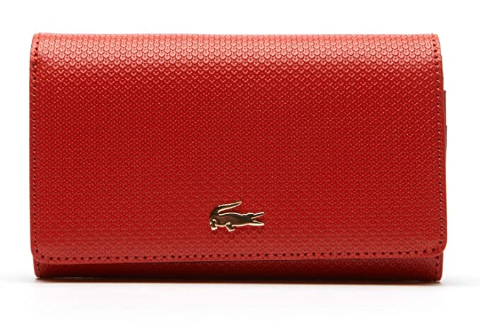 Lacoste CARTERA NF2251CE-016 COMPACT ALL IN ONE U Rojo