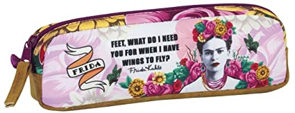 Frida Kahlo Official School Pencil Case with Pocket