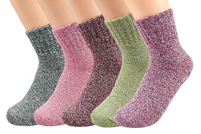 Yuson Girl Calcetines de invierno para mujer con calcetines cálidos de algodón grueso, suave, transpirable y fácil de llevar: Amazon.es: Ropa y accesorios