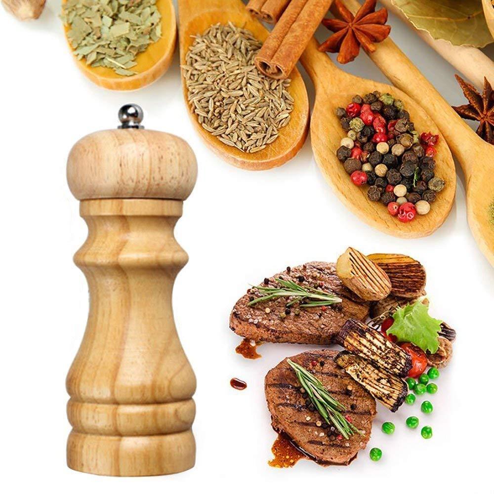2heet Wooden Spice Mill Salt Pepper Mills Grinder - Best small kitchen appliances