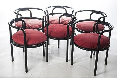 Juego de 6 sillas Locus Solus Gae Aulenti para Poltronova ...