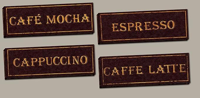 cafe mocha kitchen decor amazoncom vintage paris cafe signs cappucino espresso caffe