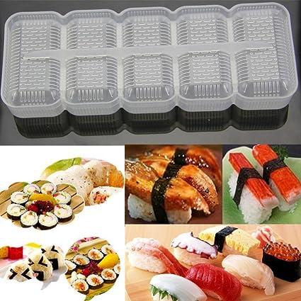 hkfv hogar bricolaje comodidad Creative diseño japonés Sushi moldes bandejas DIY Handmake herramientas bola de arroz