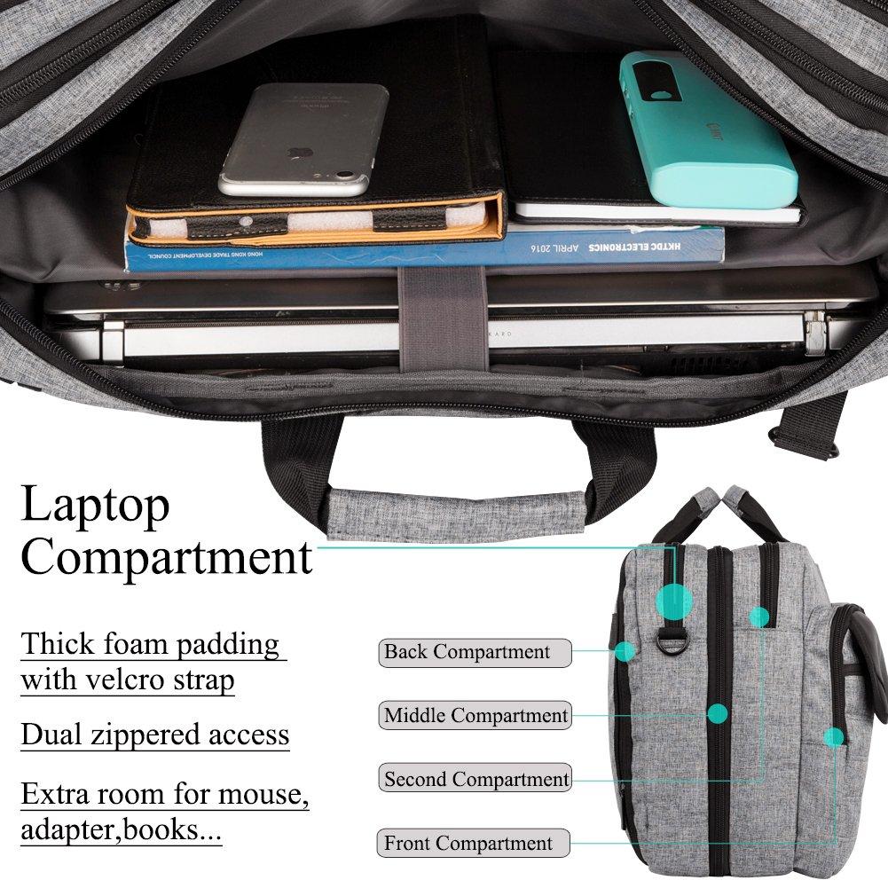 1314bba4a9 Sacs pour ordinateur portable Dtbg Nylon polyvalent Convertile Spacieux  Business Casual Voyage pour ordinateur portable Menssenger ...